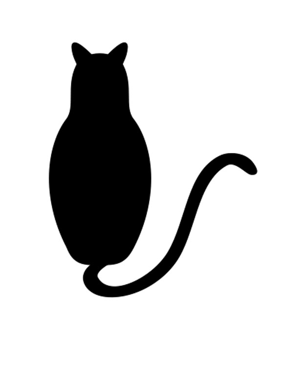 612x792 Cat Face Silhouette Images Pictures