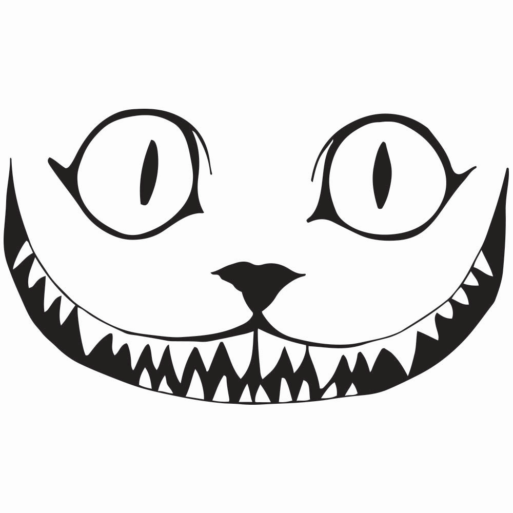 1000x1000 Clipart Cheshire Cat Silhouette Pencil And In Color
