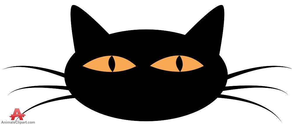 999x428 Female Cat Face Silhouette Free Clipart Design Download