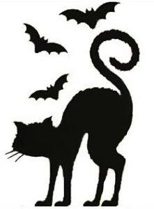 221x300 Black Cat Stencil By Crafty Stencils