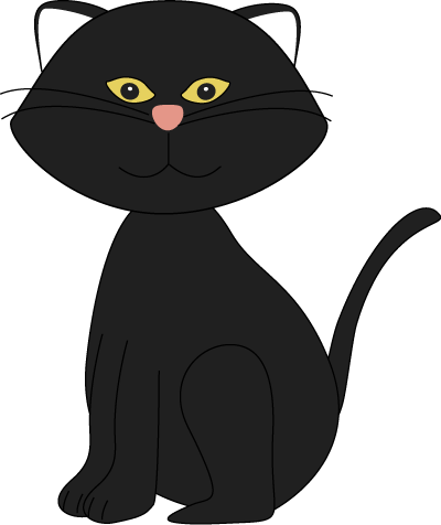 400x476 Black Cat Clipart Witch Silhouette