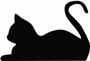 300x203 Cat Silhouette Clip Art