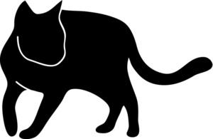 300x195 Cat Silhouette Clipart