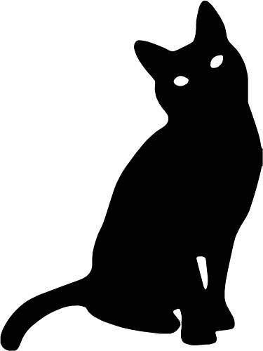 375x500 Cat Head Silhouette