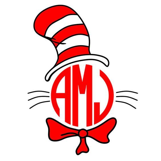 564x564 Cat In The Hat Svg Cuttable Frames Work Things