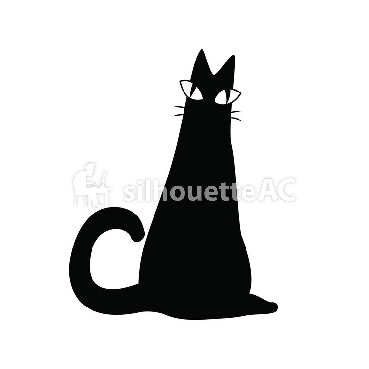 750x750 Free Silhouettes October, Cat