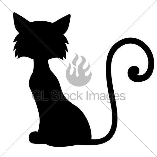 500x500 Sill Furry Cat Gl Stock Images