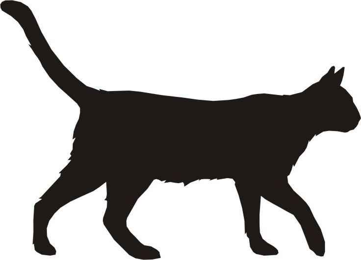 736x531 Black Cat Clipart Silhouette