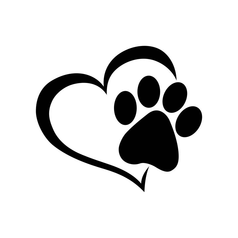 812x812 Paw Heart Dog Cat Love Pet Graphics Svg Dxf Eps Png Cdr Ai Pdf