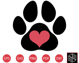 340x270 Paw Print Svg Cut Files Svg File And Png Image Pawprints