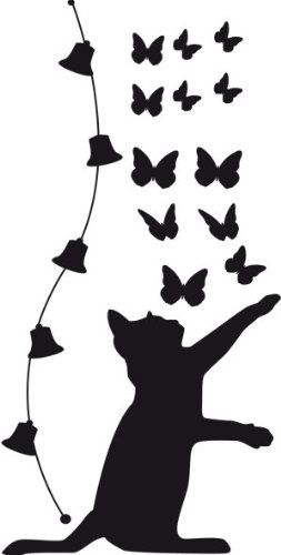 253x500 162 Best Silhouettes Cat Silhouettes Images On Black