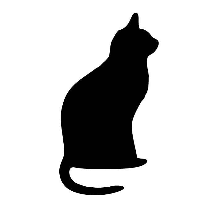 660x660 Clip Art Cat Outline Clipart Pencil And In Color Lemonize
