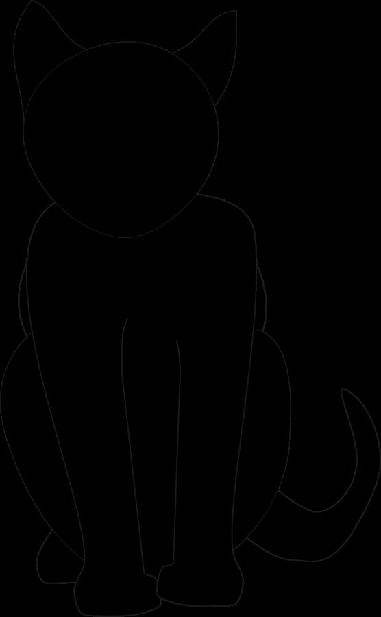 556x900 Black Cat Svg Vector File, Vector Clip Art Svg File Mama'S