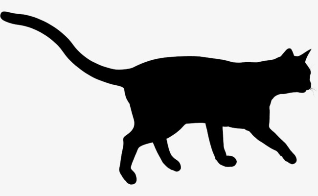 650x400 Black Cat Silhouette, Sketch, Black, Animal Png And Psd File