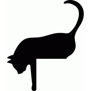 300x300 Free Cat Silhouette 2, Hanslodge Clip Art Collection