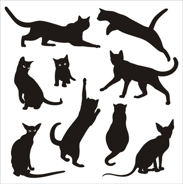 367x368 Free Cat Silhouette Free Vector Download (6,105 Free Vector)