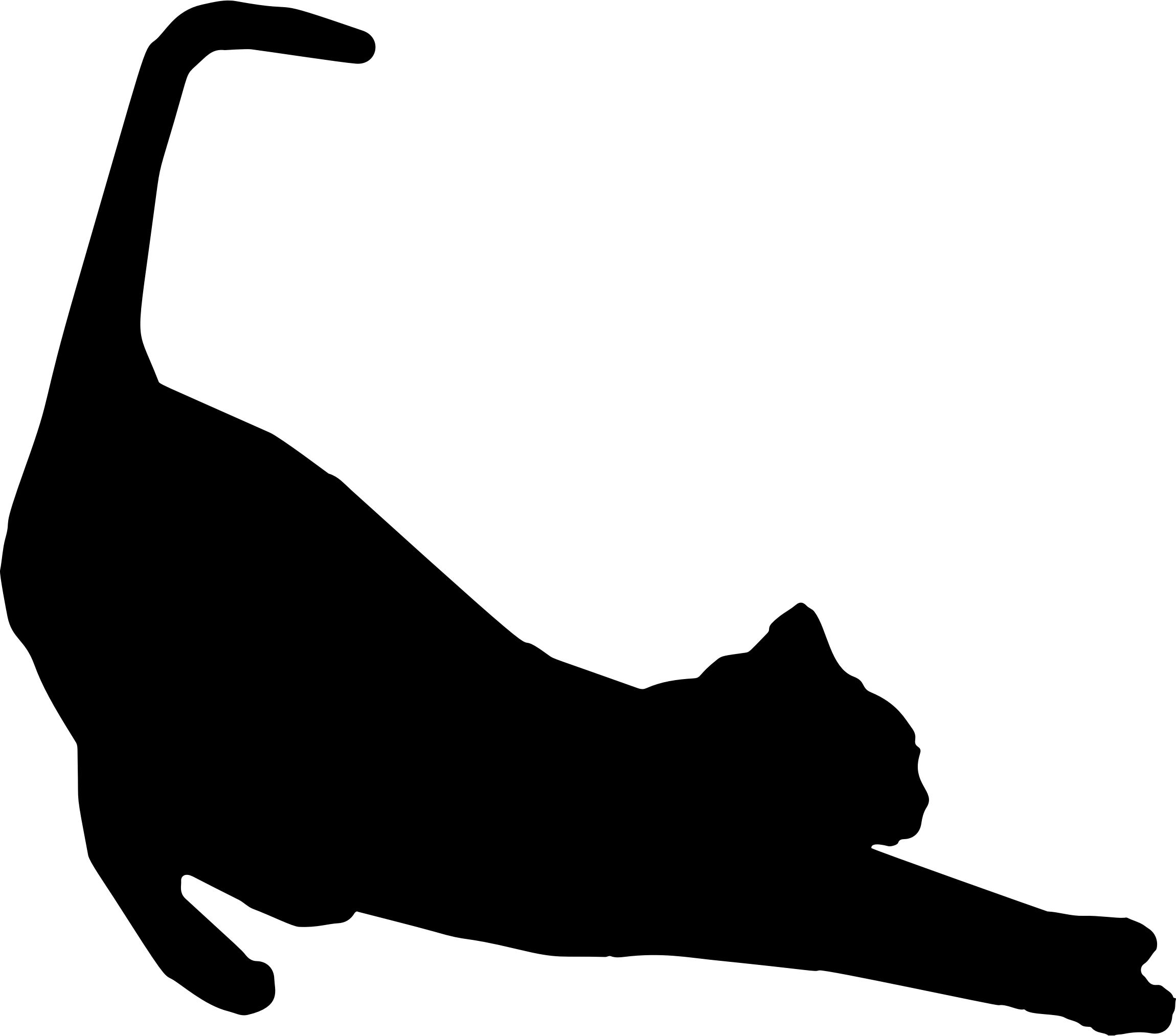 2300x2026 Stretching Cat Silhouette Icons Png