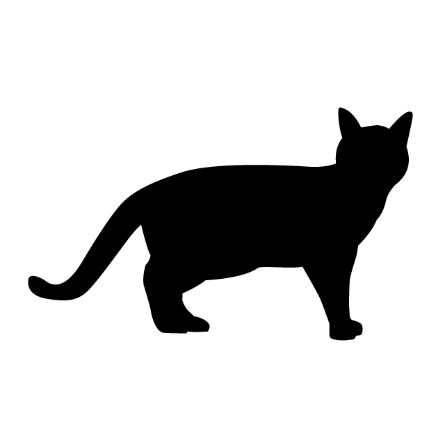 640x640 Cat Animal Silhouette Free Illustrations