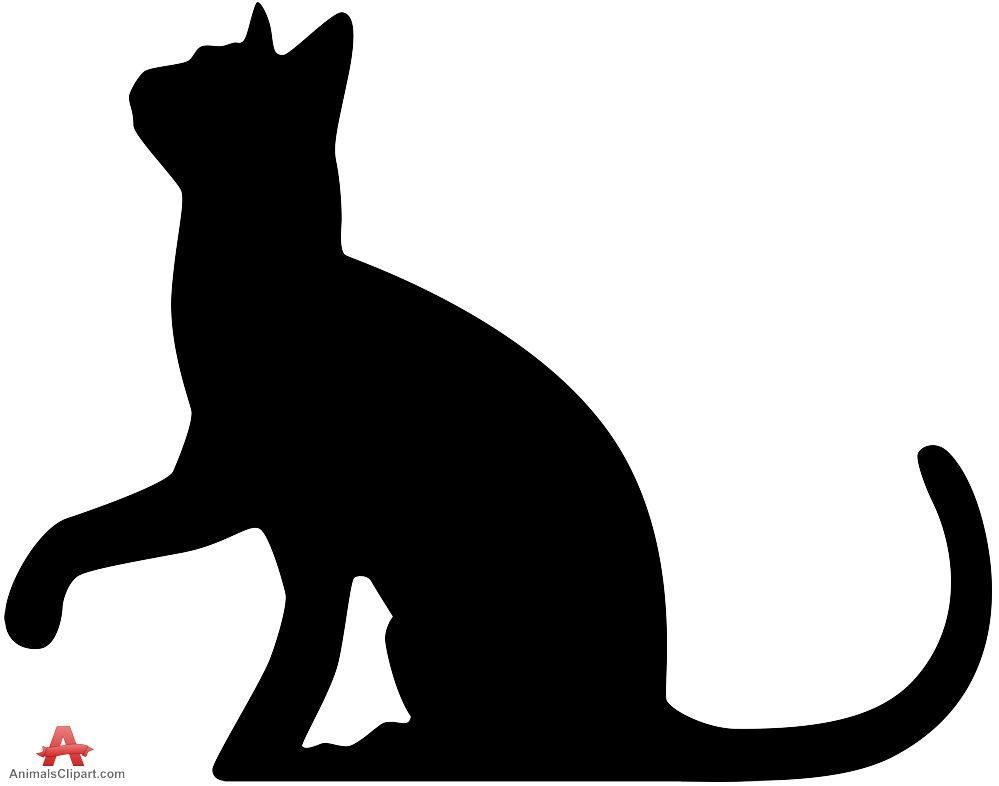 999x786 Cat Silhouette Looking Up Free Clipart Design Download