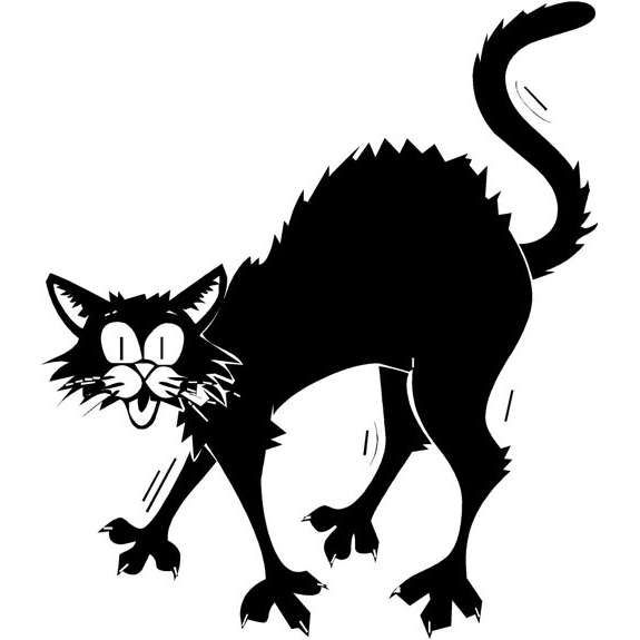 575x575 Scared Cat Clipart Fun For Christmas