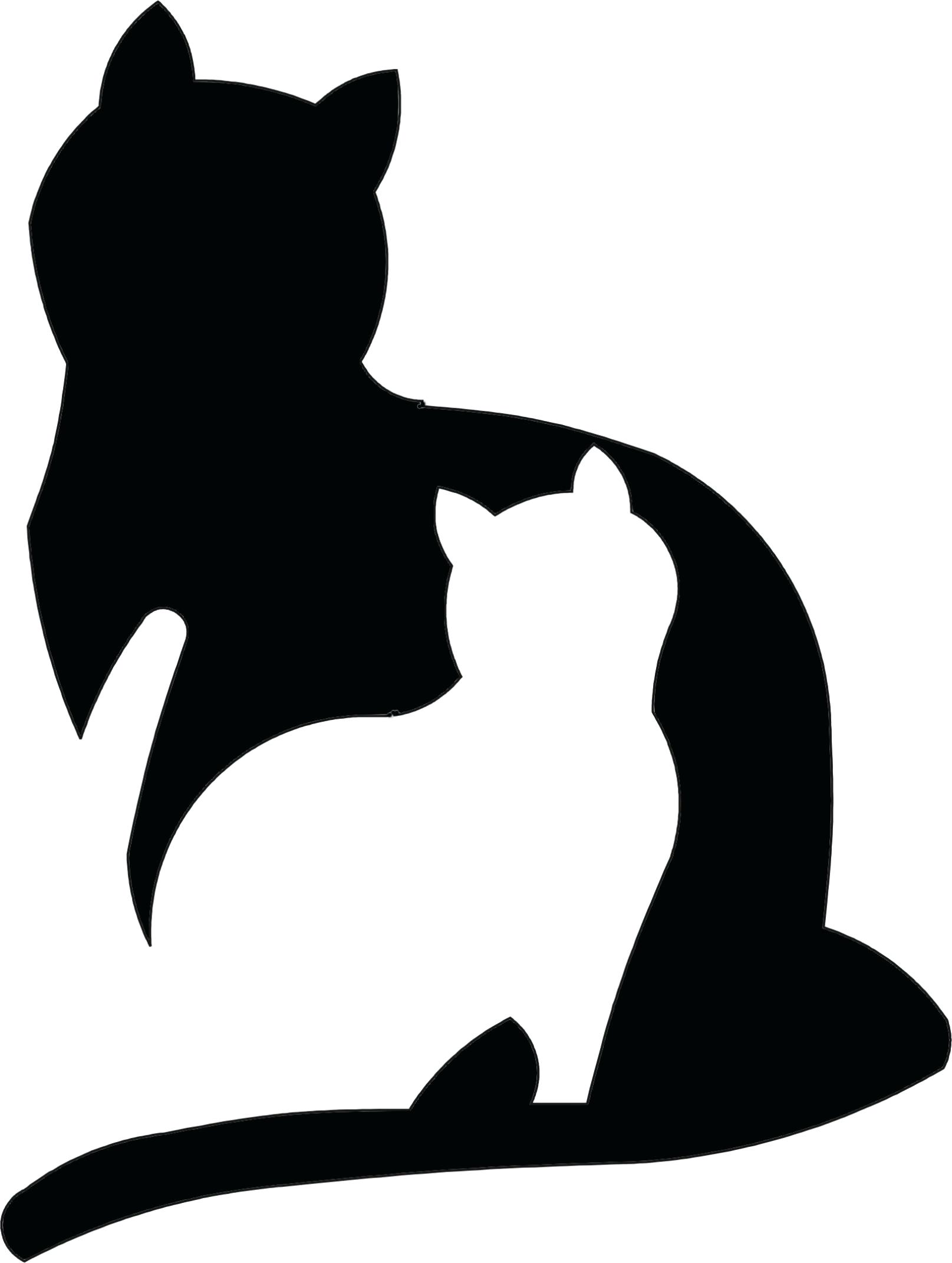 1615x2142 Template Cat Silhouette Template Vector View Side For Retro Logos