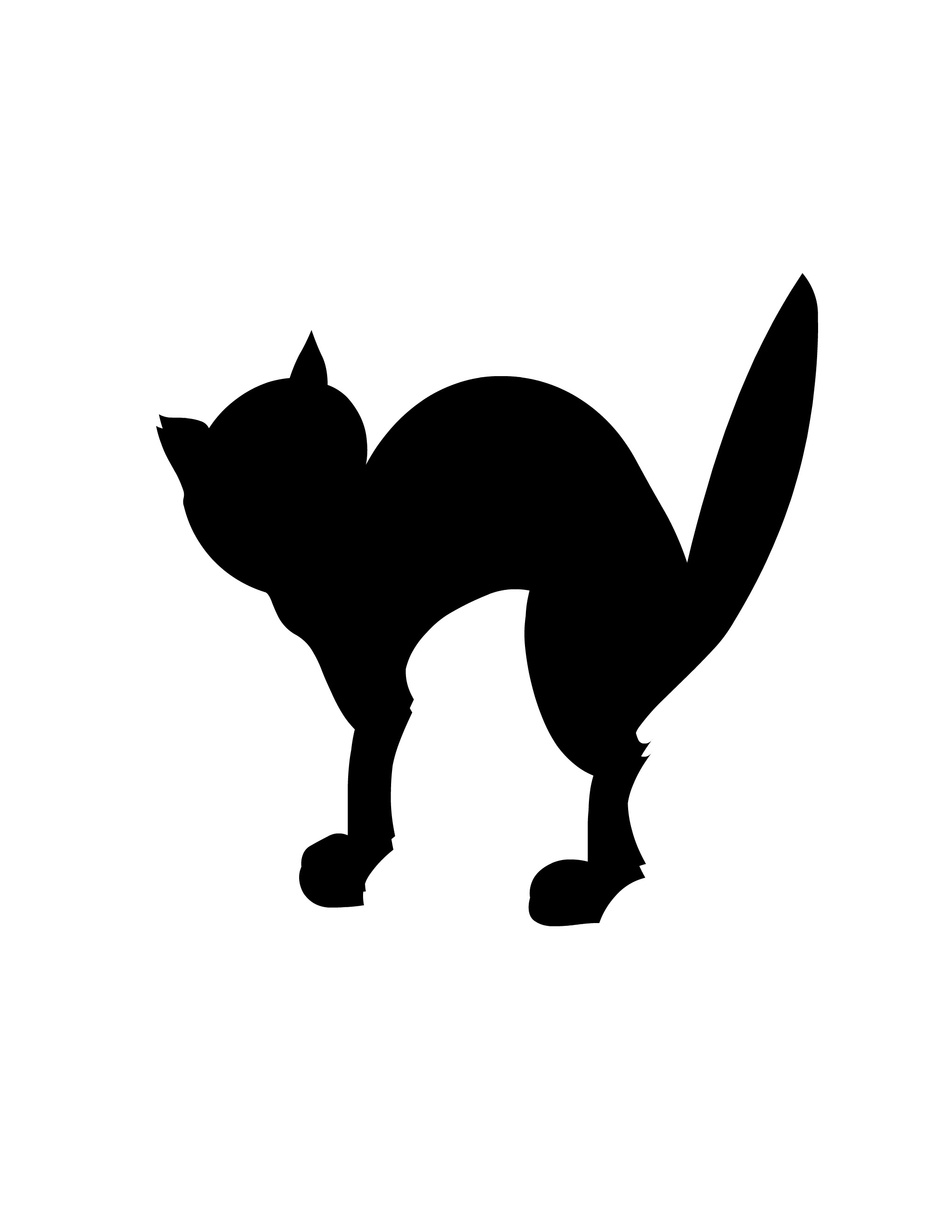2040x2640 29 Images Of Witch Cat Halloween Silhouette Template