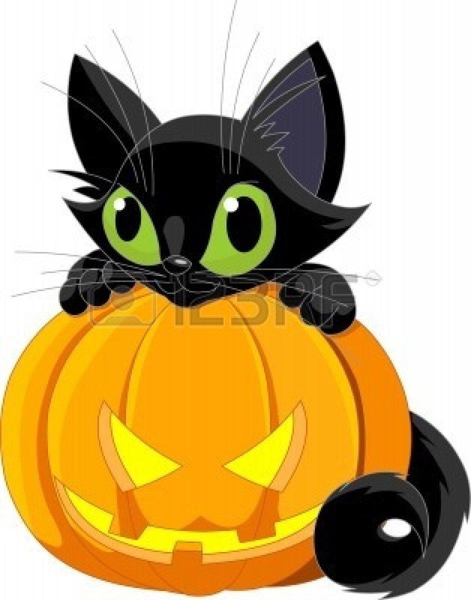 942x1200 Cat Halloween Clipart