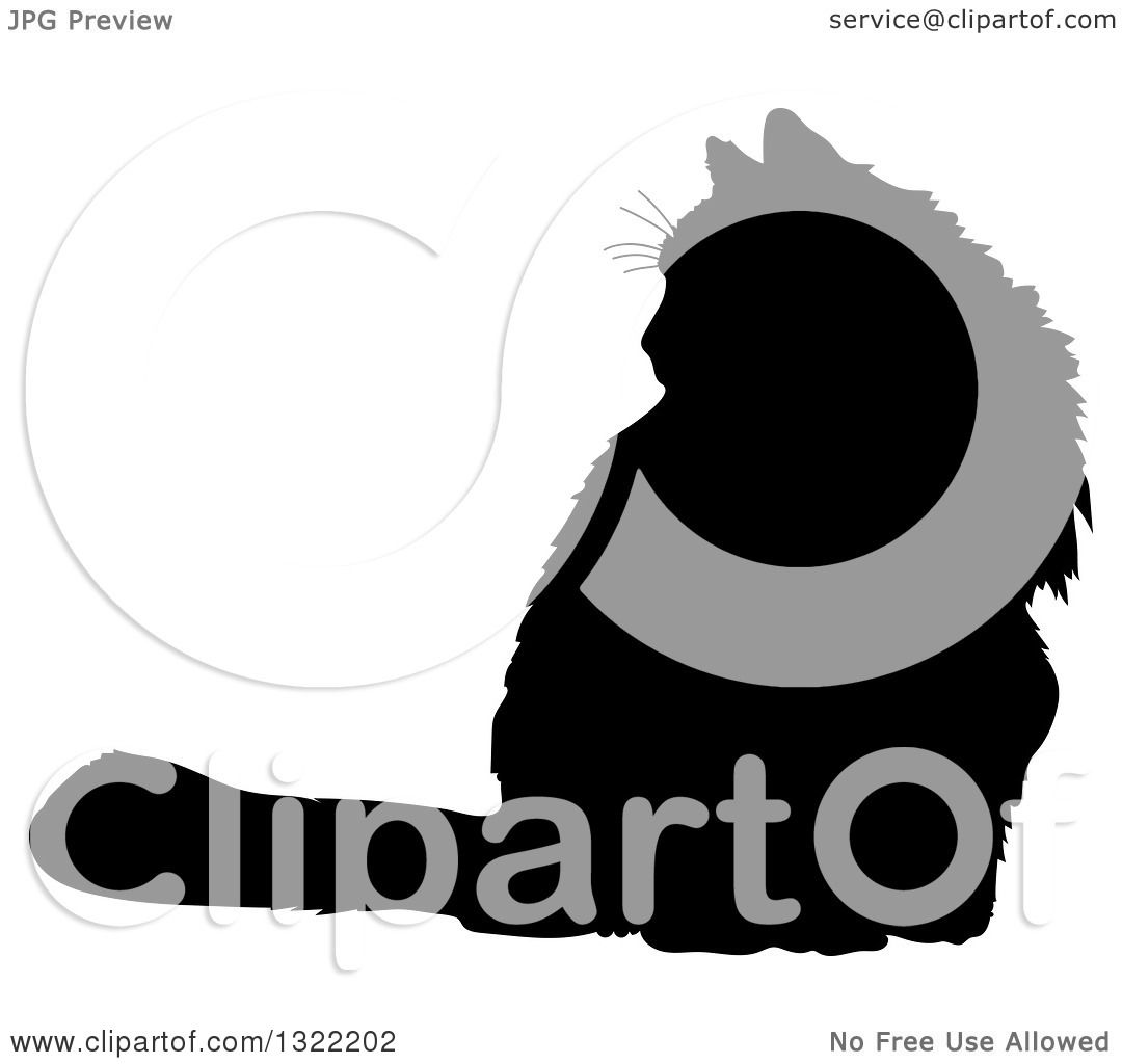 1080x1024 Clipart Of A Black Sitting Cat Silhouette