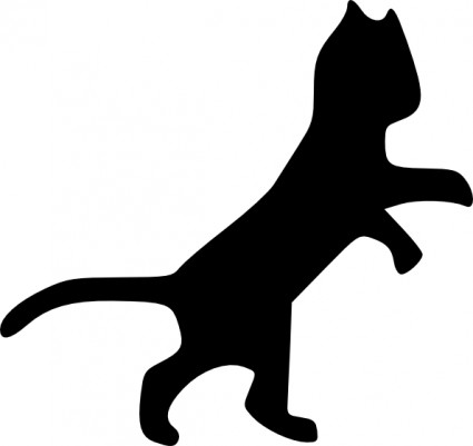 425x401 Dog And Cat Silhouette Clip Art Free 4