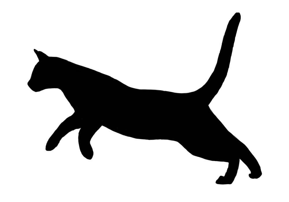 1000x700 Free Cat Outline, Hanslodge Clip Art Collection