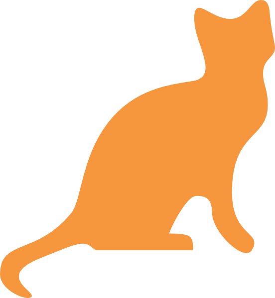 552x599 Orange Cat Silhouette Clip Art