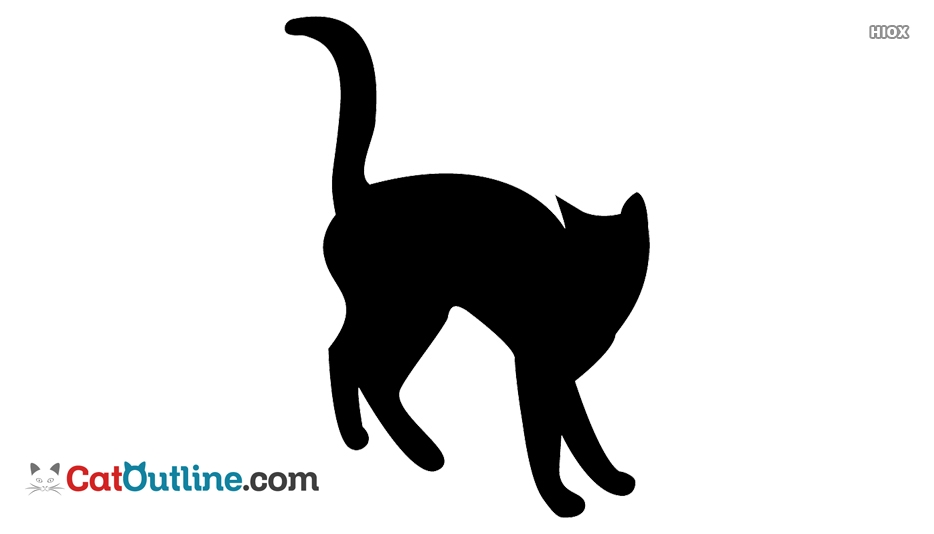 934x534 Cat Silhouette Outline @
