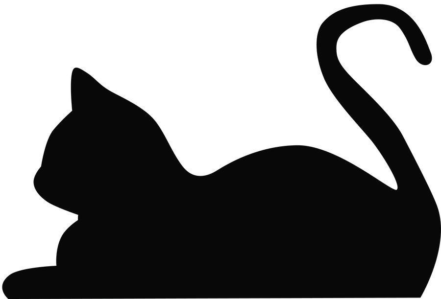 900x611 Clip Art Cat Outline Silhouette S And Lemonize