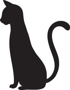 232x300 Halloween Cat Outline Clipart