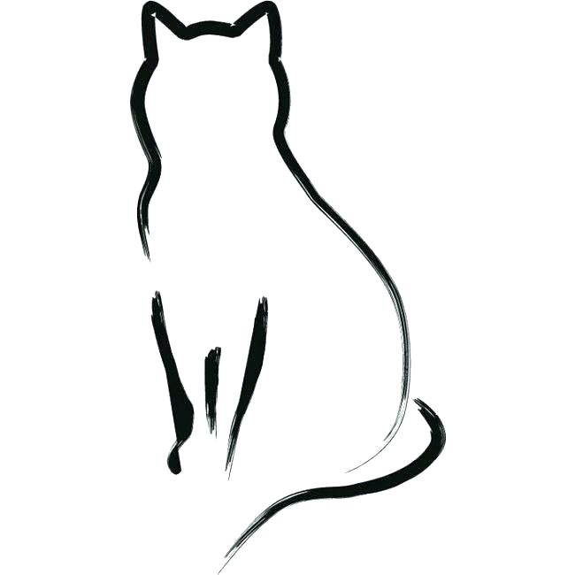 650x650 Outline Of Cats Cat Outline Tattoo Cat Silhouette Pillow Cases