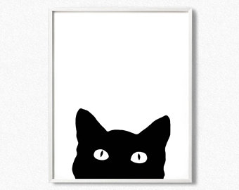 340x270 Cat Poster Etsy