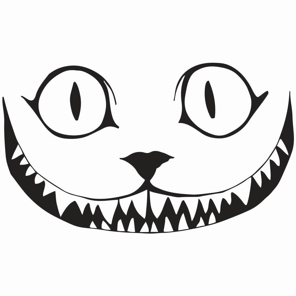 1000x1000 Free Cheshire Cat Silhouette Clipart