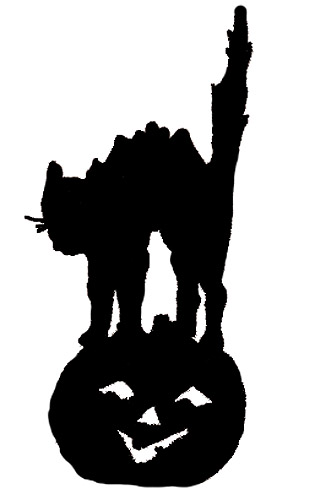 315x500 Halloween Cat Silhouette Cliparts