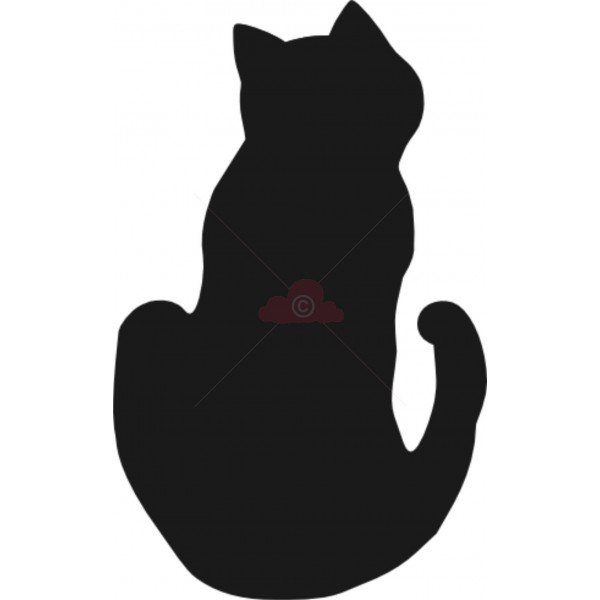 600x600 Sitting Cat Silhouette Free Download Clip Art Free Clip Art