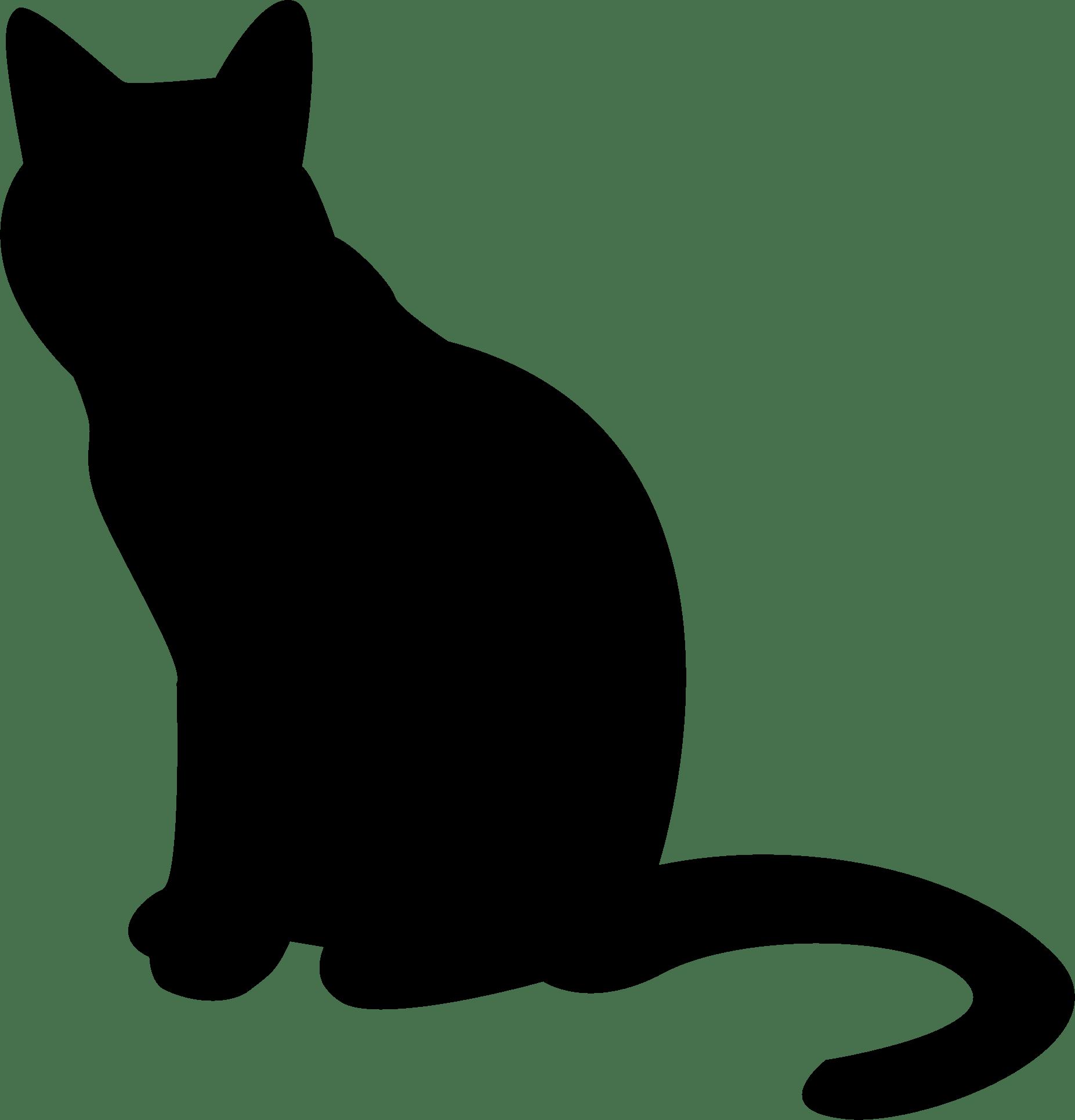 1853x1931 Cat Silhouette Transparent Png