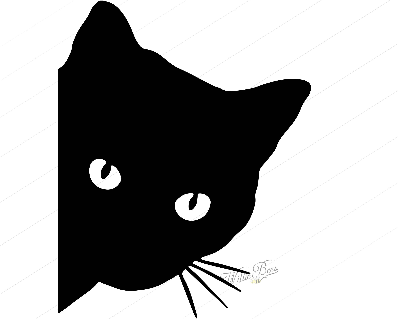 3000x2400 Peeking Cat Svg Feline Svg Cat Svg Peeking Cat Silhouette