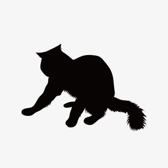 650x650 Cat Silhouette, Animal, Sketch Png Image And Clipart For Free Download