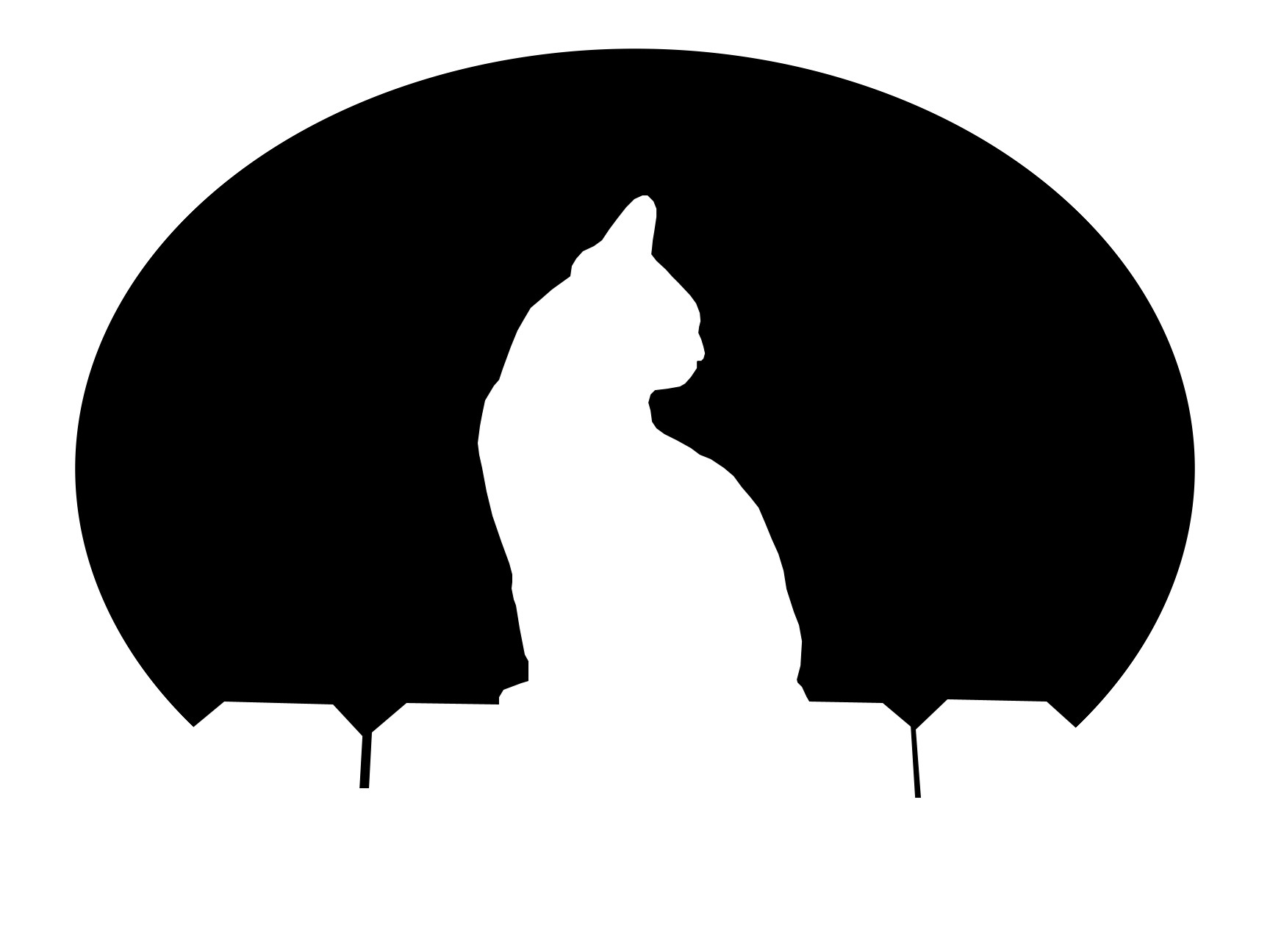 Cat Silhouette Pumpkin at GetDrawings.com | Free for personal use ...