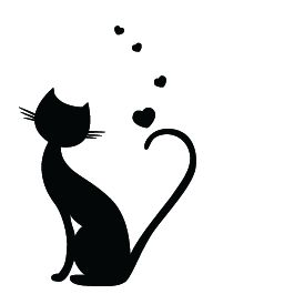 265x265 48 Best Cat Silhouettes Images On Black Cats, Black