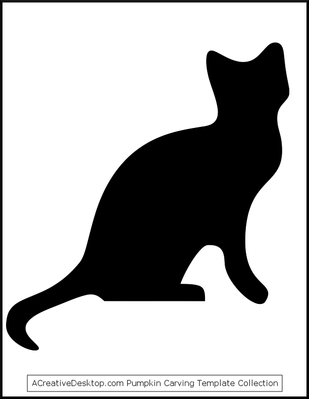 612x789 Cat Stencil Pottery Stenciling, Template And Patterns
