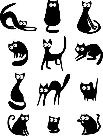 425x558 Different Cats Vector Illustration 3.jpg Stencils