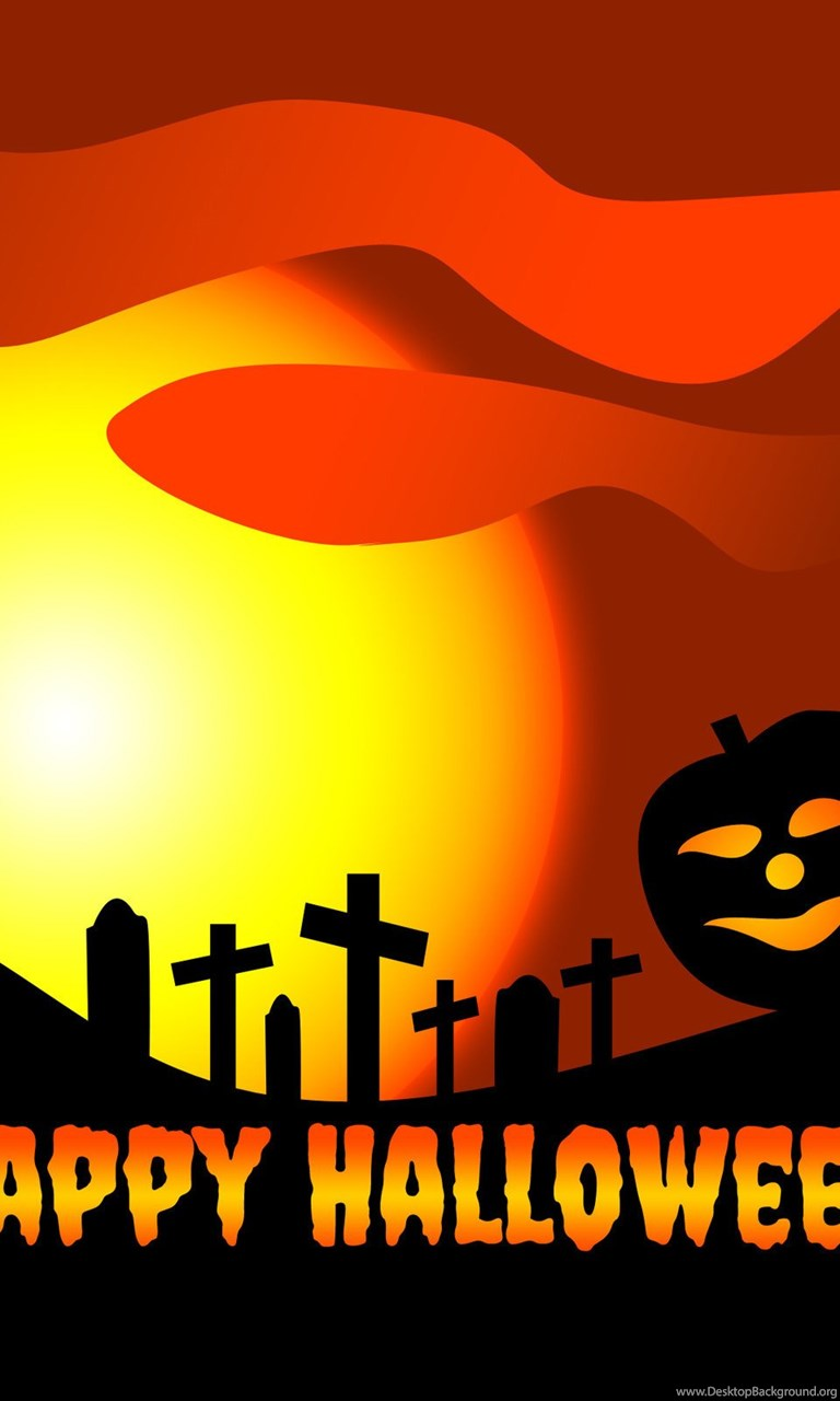 768x1280 Happy Halloween Wallpapers Clip Art With Silhouette Of Cat