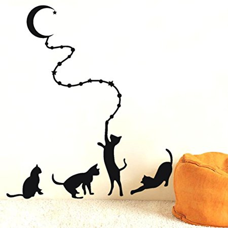 450x450 Xinantime Diy Removable Mural Wallpaper Cat Wall Sticker Amazon