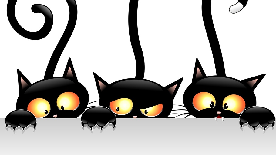 910x512 Vector, Tails, Black, Cats, Views Halloween Pictures, Best