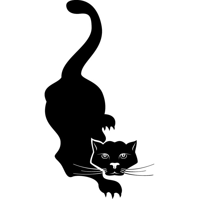 Cat Tail Silhouette